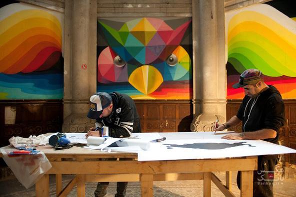 تبدیل کلیسای 100 ساله به پارک اسکیت بازی با دیوارهای نقاشی شده/بانک عکس
