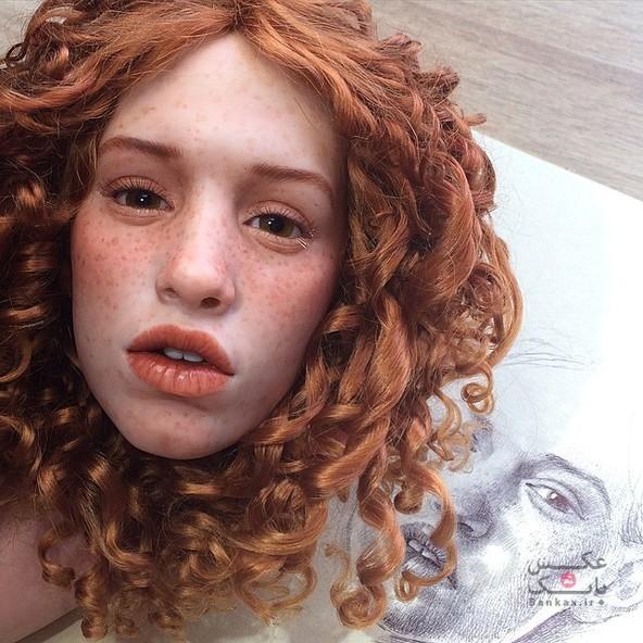 ساخت چهره های پلاستیکی واقعی برای عروسک ها/بانک عکس