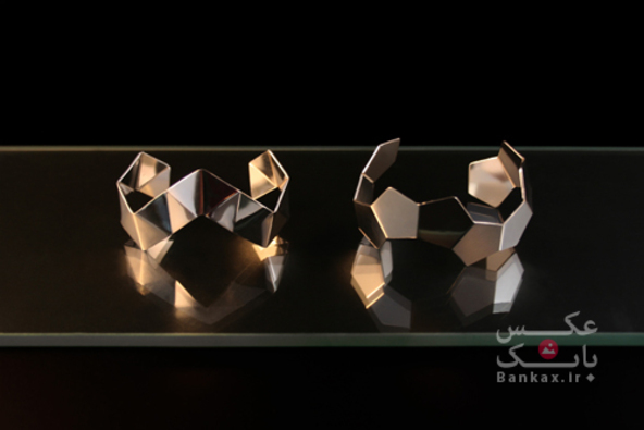 مجموعه طراحی های زیورآلات مدرن Danielle Vroemen/بانک عکس